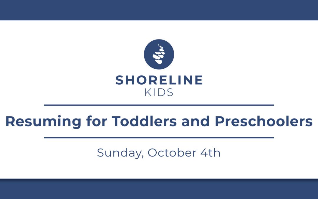 Shoreline Kids Resuming for Toddlers & Preschoolers
